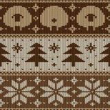 Modèle tricoté sans couture scandinave Images stock
