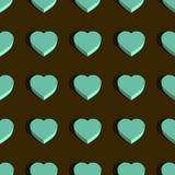 Modèle tridimensionnel symétrique sans couture de coeur photo libre de droits