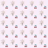 Modèle tropical avec des cerises, fond de vecteur illustration de vecteur