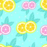 Modèle tropical avec des citrons dans le style plat Fond doux et coloré d'été Illustration de vecteur illustration stock