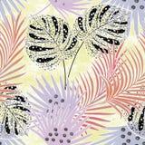 Modèle tropical coloré sans couture avec l'effet d'aquarelle Modèle élégant pour des textiles illustration libre de droits