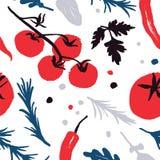 modèle végétal coloré Rouge-bleu-noir avec un décalage de moitié-place Collecte d'automne Vous trouverez le modèle sans couture d illustration de vecteur