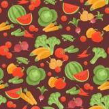 Modèle végétarien sans couture avec des légumes Image libre de droits