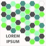 Modèle vert abstrait d'hexagone fond, illustration photographie stock