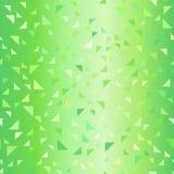 Modèle vert brillant de bonne triangle Fond sans joint de vecteur illustration stock