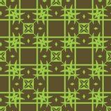 Modèle vert clair de modèle géométrique sans couture sur le fond vert-foncé illustration stock