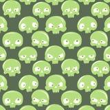 Modèle vert de crânes Photographie stock libre de droits