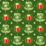 Modèle vert de Joyeux Noël Images stock
