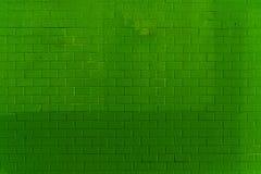 Modèle vert de mur de briques Photographie stock libre de droits