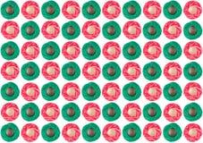 Modèle vert et rouge, texture Fils de couture de vert comme fond Image stock