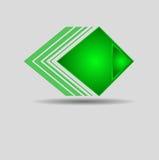 Modèle vert géométrique abstrait de triangle Photographie stock libre de droits