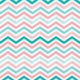 Modèle vert, rose et blanc d'entrelacement sans couture de zigzag de rayures illustration de vecteur