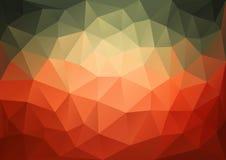 Modèle vert rouge géométrique illustration libre de droits