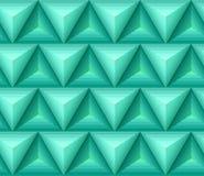 Modèle vert sans couture d'ethno avec les formes 3D géométriques Photographie stock libre de droits