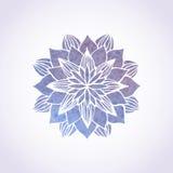 Modèle violet de dentelle d'aquarelle Élément de vecteur mandala Photographie stock