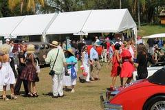 Modèles à l'événement de voiture à la station de vacances de Boca Raton Image stock