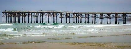 Modèles à la plage image stock