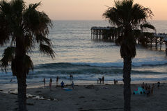 Modèles à la plage photos stock