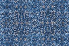 Modèles abstraits basés sur les tapis en soie finement tissés Images libres de droits