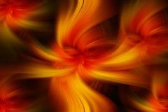 Modèles abstraits colorés de jaune orange Art flamboyant de concept Image stock