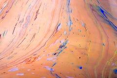 Modèles abstraits de peinture sur le fond coloré Photos stock