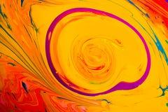 Modèles abstraits de peinture sur le fond coloré Image stock