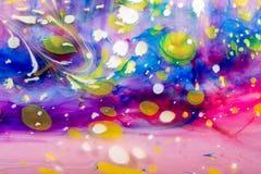 Modèles abstraits de peinture sur le fond coloré Image libre de droits