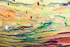 Modèles abstraits de peinture sur le fond coloré Photos libres de droits
