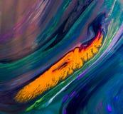 Modèles abstraits de peinture sur le fond coloré Photographie stock