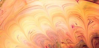 Modèles abstraits de peinture sur le fond coloré Photographie stock libre de droits