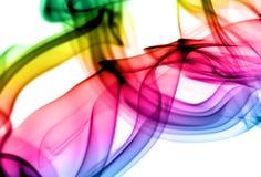 Modèles abstraits de vapeur de gradient sur le blanc Photographie stock libre de droits