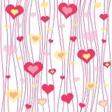 Modèles abstraits sans couture de valentines Images libres de droits