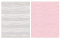 Modèles abstraits tirés par la main de vecteur de traînée blanc Conception gris-clair et rose illustration stock