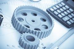 Modèles avec des instruments de mesure Photo stock