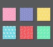 Modèles avec les éléments graphiques Images stock