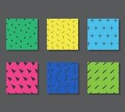 Modèles avec les éléments graphiques Images libres de droits