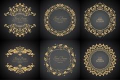 Modèles baroques circulaires Photo stock