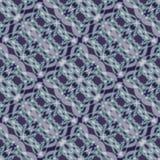 Modèles blancs fins de dentelle sur le fond bleu-foncé, ornement rayé diagonal Image stock