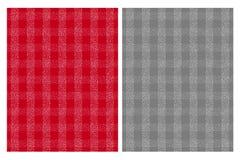 Modèles blancs mignons de vecteur de grille Fond rouge et gris illustration de vecteur