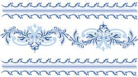 Modèles bleus de lai Image stock