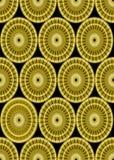 Modèles classiques d'or sur le fond noir, ornement sans couture dans le style de damassé, forme d'or de cercle sur le secteur noi Photos libres de droits