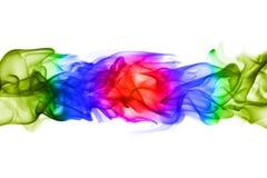 Modèles colorés abstraits de flamme sur le fond blanc Photo stock