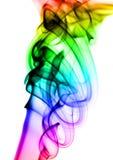 Modèles colorés abstraits de fumée sur le blanc Images libres de droits