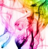 Modèles colorés abstraits de vapeur sur le blanc Photo stock