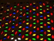 Modèles colorés de fenêtre légère Photos stock