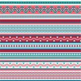 Modèles colorés de fond sans couture d'hiver dans le style de Hugge illustration stock