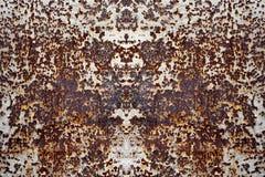 Modèles colorés de rouille sur le plancher en acier Photos libres de droits