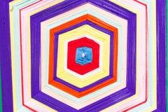 Modèles colorés de trellis faits de fils de broderie Photo stock