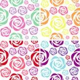 Modèles colorés sans couture de rose Photographie stock