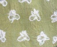 Modèles détaillés de tissu de batik la manière naturelle Photographie stock libre de droits